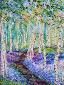 silver birch and bluebells oil