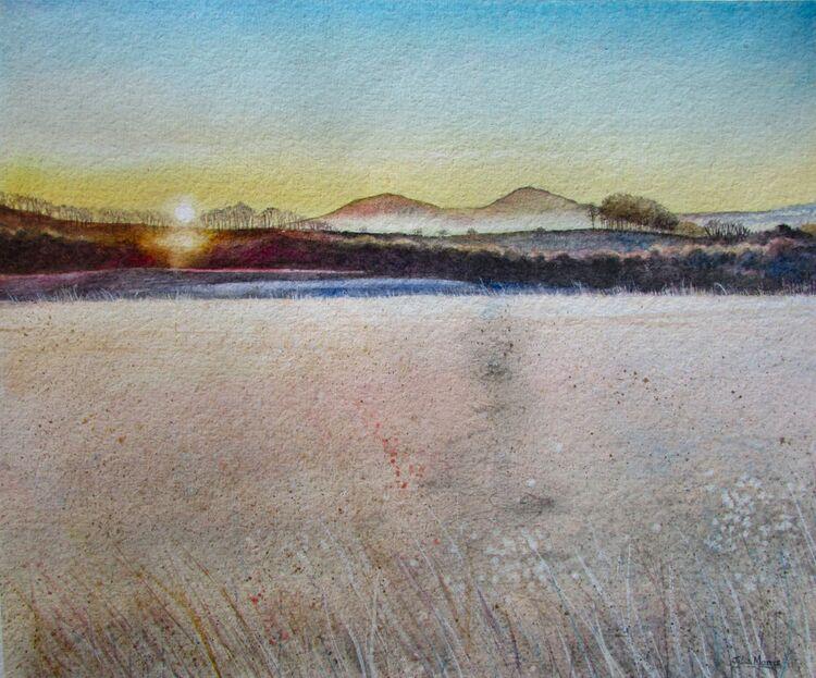 Sunrise, Eildon Hills