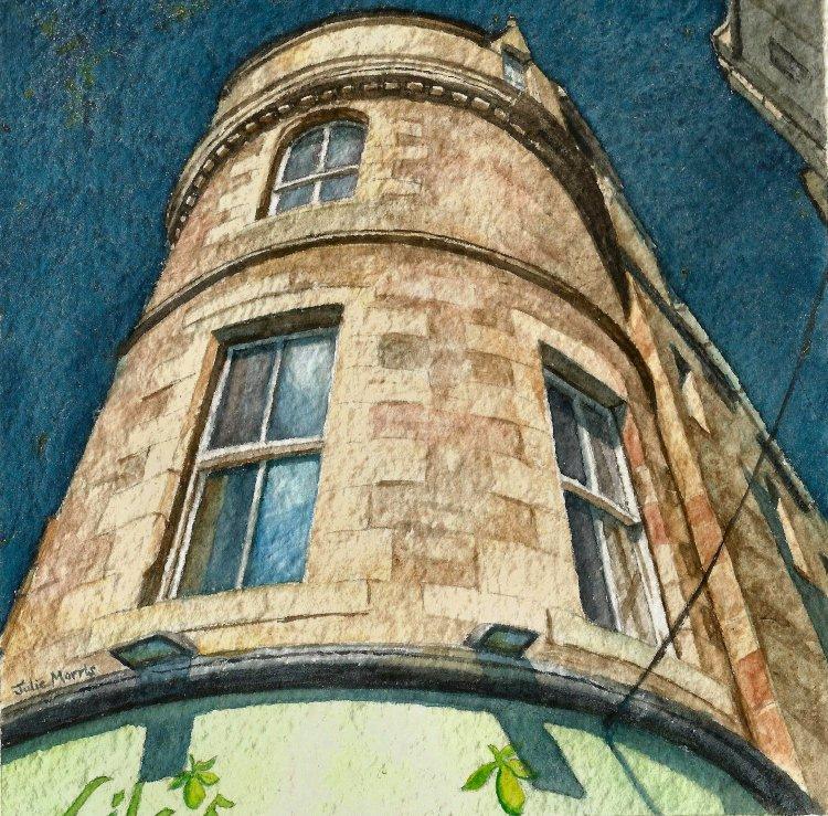 Building on Cockburn Street, Edinburgh.