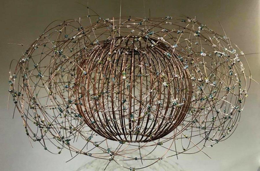 Beaded version of 'Bird's Nest' chandelier