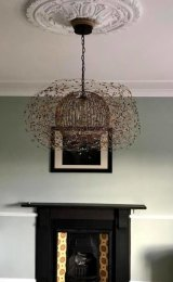 Beaded Bird's Nest Chandelier