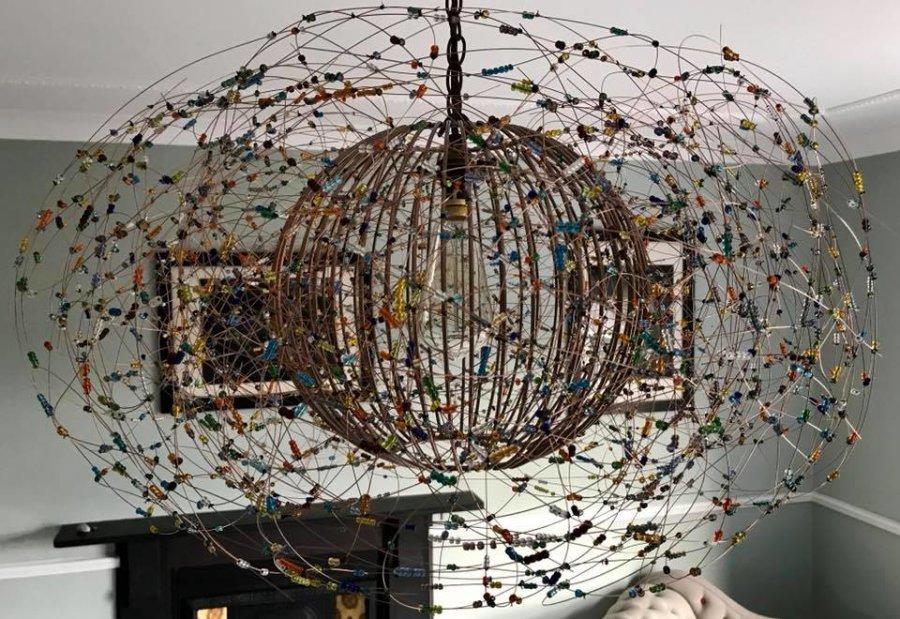 Beaded Bird's Nest Chandelier