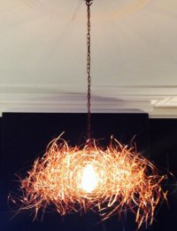 Commission - wire chandelier