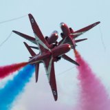 Red Arrows close up of burst