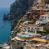 Buildings cling to the cliff - Positano