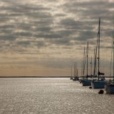 Yachts moored at sunset - Medway
