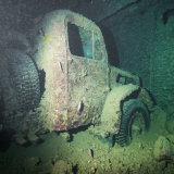 Truck in the SS Thistlegorm - Red Sea