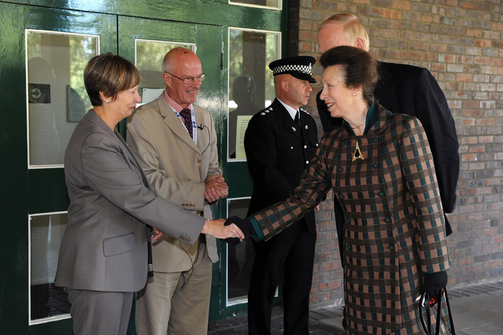 Princess Anne arriving at the Citizens Advice conference York University