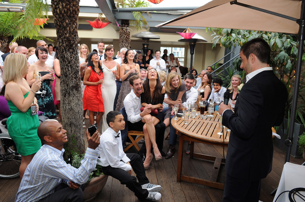 speeches at Soho Rooftop wedding