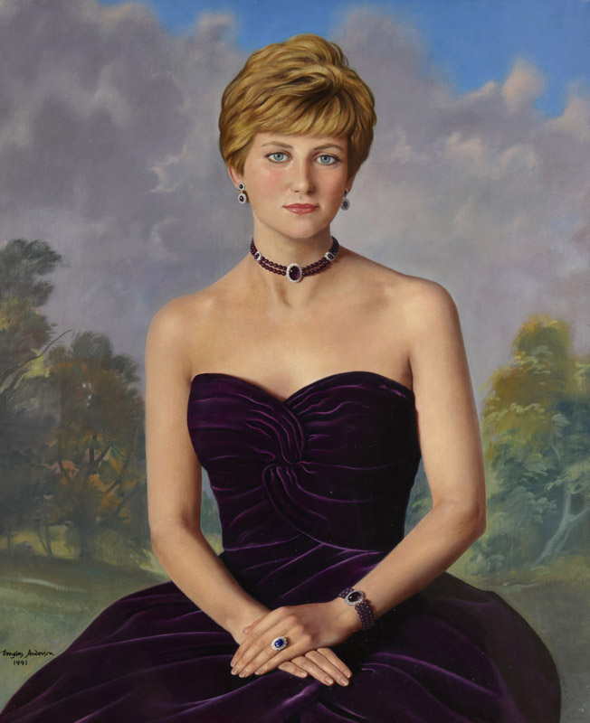 Painting of Diana, Princess of Wales, Brompton Hospital