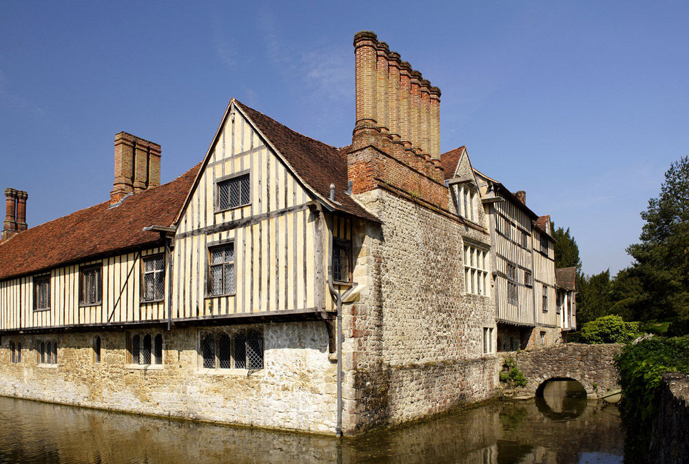 Ightham Mote, National Trust exterior view