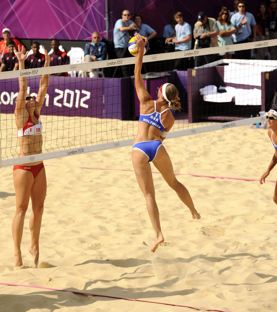 Ladie's Beach Volleyball, London Olympics, Whitehall