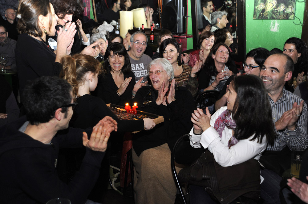Cookie Giannotti celebrates her 86th birthday