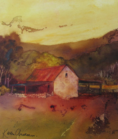 Sunset cowshed