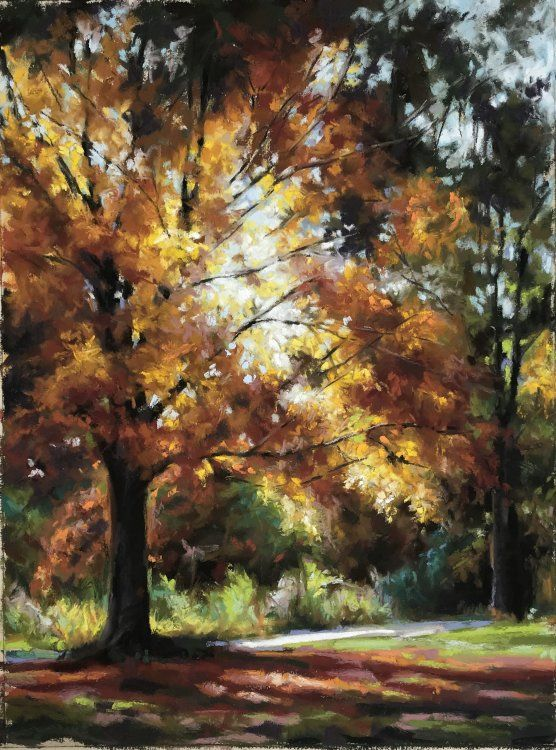 Autumn Light Pastel Sketch