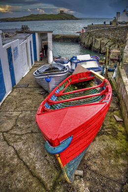 Boats at Coliemore Harbour, Dalkey, Co. Dublin