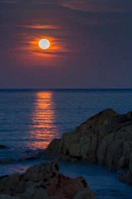 Full Moon over Sandycove 3445