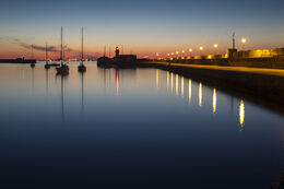 East Pier, Dun Laoghaire, on a calm summer evening.