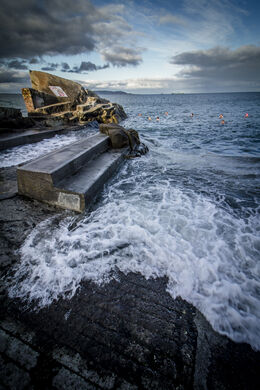 Forty Foot bathing place, Sandycove, Co, Dublin