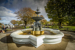 Water fountain, People's Park, Dun Laoghaire, Co. Dublin, Ireland