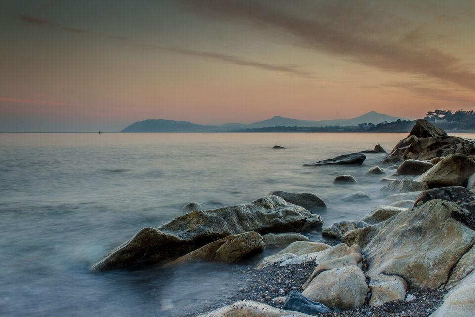 View of Bray Head from White Rock beach, Killiney