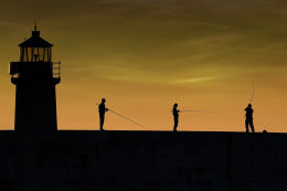Fisher-people, West Pier, Dun Laoghaire