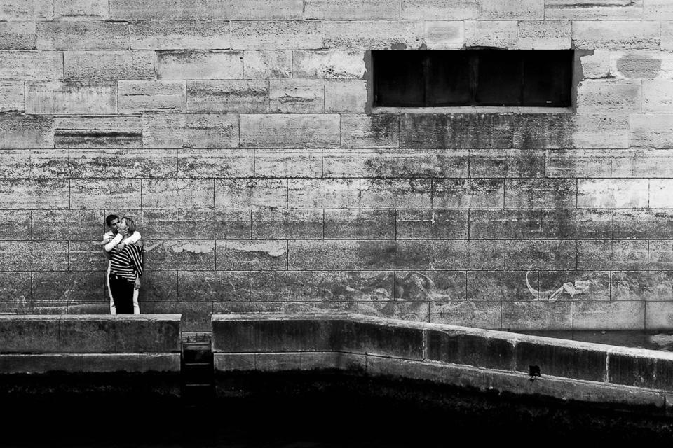 Lovers by the Seine, Paris