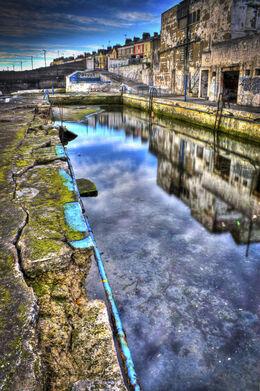 Abandoned main pool, Dun Laoghaire Baths, Dun Laoghaire, Co. Dublin