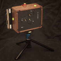 Karlos 130. 4x5 perspective camera with 65mm focal length