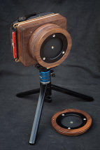 Karlos 124. 6x9 pinhole camera with 35mm and 65mm focal lengths.