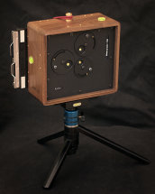 Karlos 128. 4x5 perspective camera with 65mm focal length