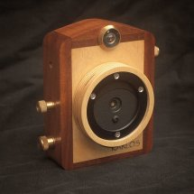 Karlos 152 645 (16 on 120) 35mm focal length. Made in birch, mahogany and brass.