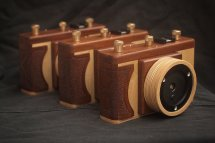 Karlos 153, K154 and K155 6x9 (8 on 120) 55mm and 65mm focal lengths. Made in birch, mahogany and brass.
