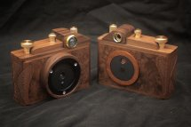 Karlos156 & Karlos157. 6x6 pincams with 35mm focal length. Walnut
