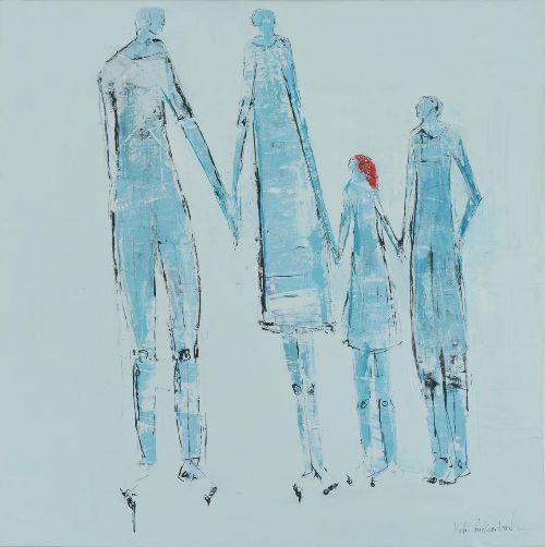 My Family.100 x 100 cm canvas