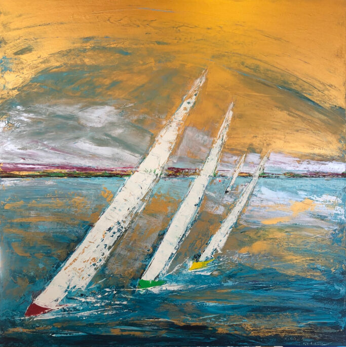 Sail away from me honey 100x100cm canvas.