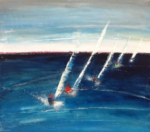 Sailing into the distance.Sold
