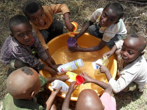 Infants water play