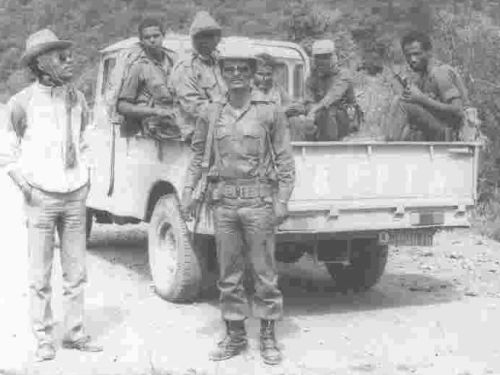Asenake in the army (standing, centre)