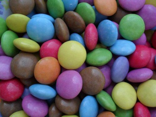 a special treat - brightly-coloured chocolates