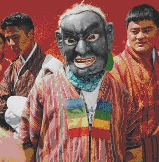 Thimphu festival clothes
