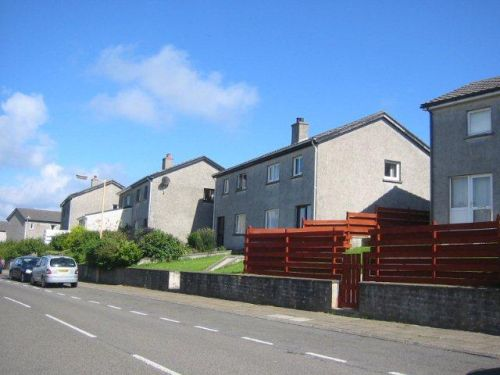 my home (1967-71): Kirkwall, Orkney (centre house)