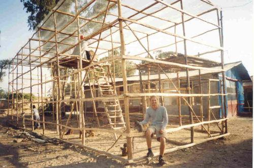 monkey enclosure under construction