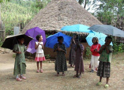 parasols for the Grade 1 girls