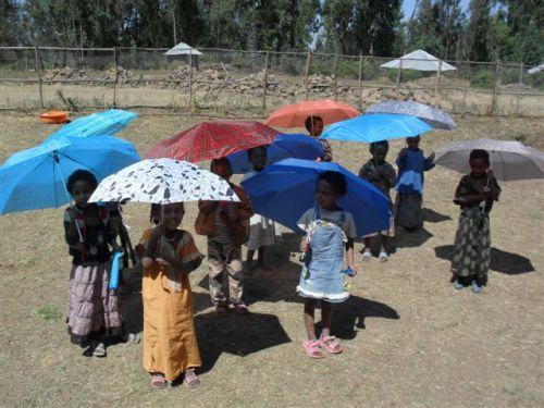a gift of umbrellas (parasols)