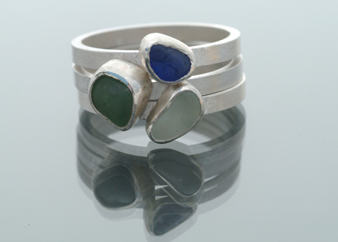 Sea Glass Stack Ring