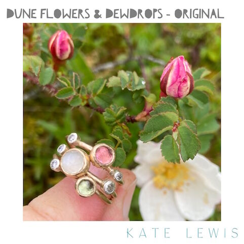 Dune Flowers and Dewdrops Stack Ring - Original Shades