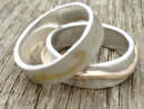 Silver Rings with 9ct gold Wave