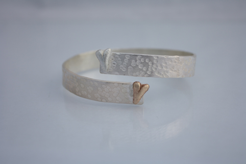 Two Hearts Wrap Bangle