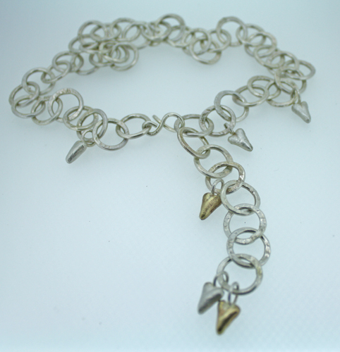 Heart Wrap Necklace in Silver and Gold